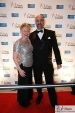 Julie Ferman (Cupid's Coach) and Paul Falzone (eLove) at the 2010 Miami iDate Awards Ceremony