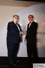 Rich Orcutt (Iovation) receiving the Best New Technology Award at the 2010 Miami iDate Awards Ceremony