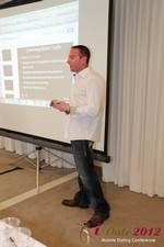 Ryan Gray (Co-Founder of IMGrind) at the Mobile Marketing Pre-Conference at the June 20-22, 2012 L.A. Internet and Mobile Dating Industry Conference