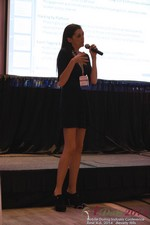 Rosalie Sutherland Of AnastasiaDate Speaking On Mobile Dating Conversions  at the iDate Mobile Dating Business Executive Convention and Trade Show