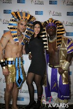 Enjoying the scenery  at the January 15, 2014 Internet Dating Industry Awards Ceremony in Las Vegas