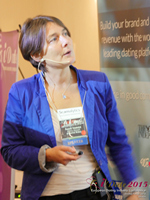 Pauline Tourneur General Manager Of Attractive World Speaking On The French Online And Mobile Dating Market at the 2015 London European Mobile and Internet Dating Expo and Convention