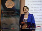 Pauline Tourneur General Manager Of Attractive World Speaking On The French Online And Mobile Dating Market  at the European iDate conference and expo for matchmakers and online dating professionals in 2015